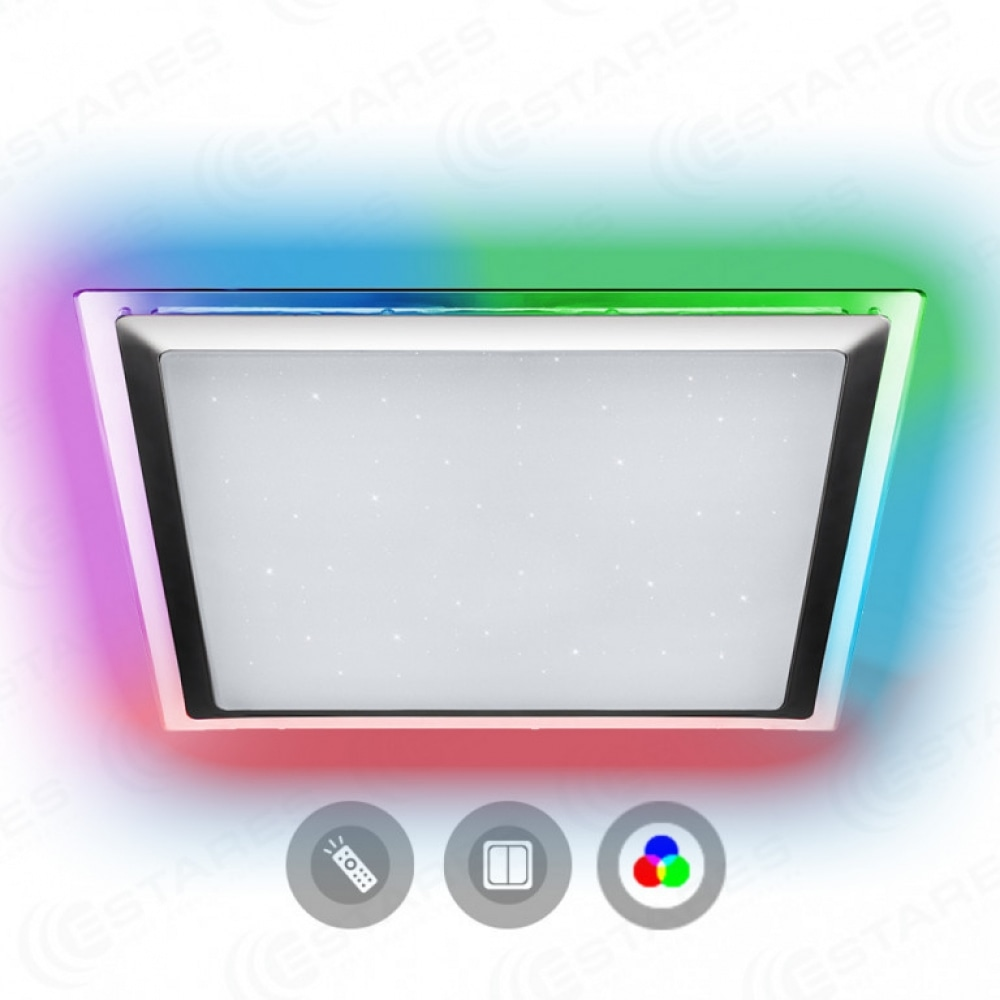 Светильник ESTARES ARION LED 60W RGB S-550 IP44 SHINY (542*542) пульт